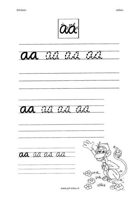 Werkbladen Leren Schrijven by Letters Schrijven Groep 3 Werkbladen