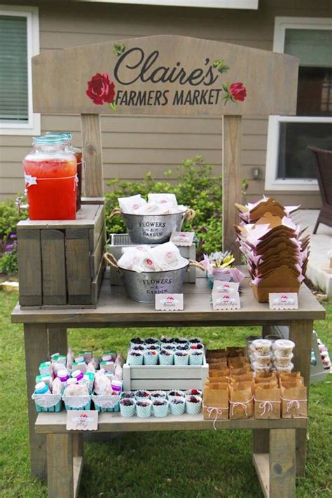 shabby chic market kara s party ideas shabby chic farmer s market birthday party kara s party ideas
