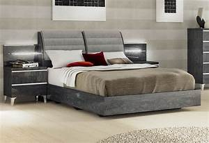 Lacquered Made In Italy Wood Elite Platform Bed With Extra