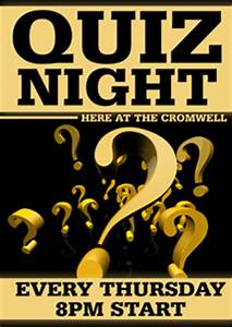 quiz night banners 19 With trivia night poster template