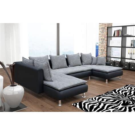 canapé d angle et noir canapé d 39 angle 6 places dante gris et noir avec deux