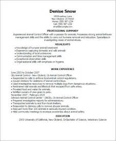 animal shelter manager resume exles professional animal officer templates to showcase