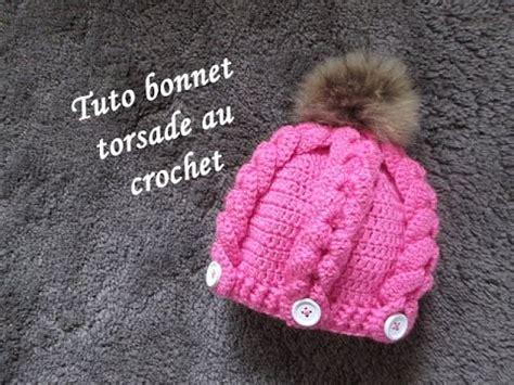 tuto bonnet torsade crochet hat beanie crochet gorro