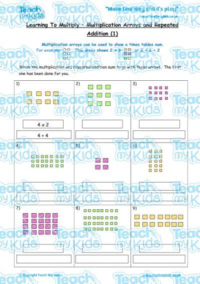 multiplication arrays repeated addition 1 teach my
