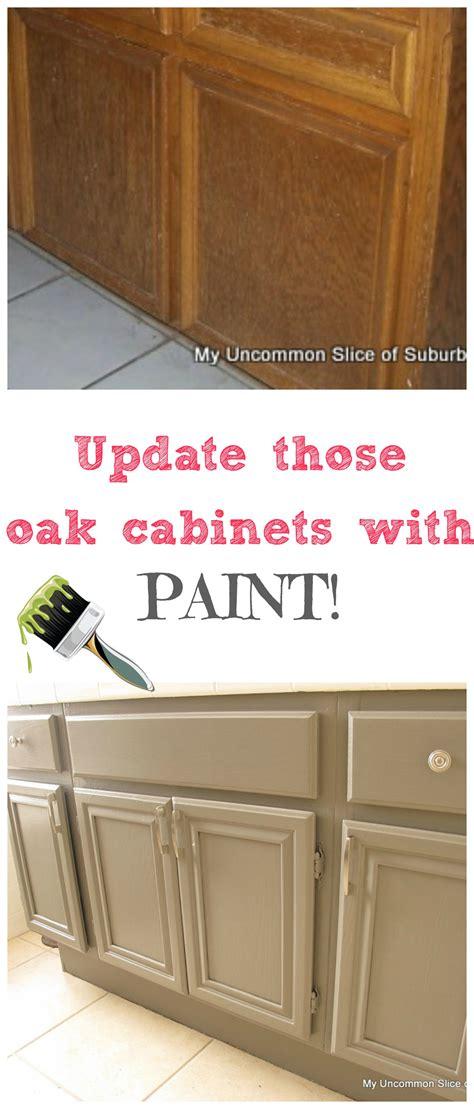 paint oak cabinets