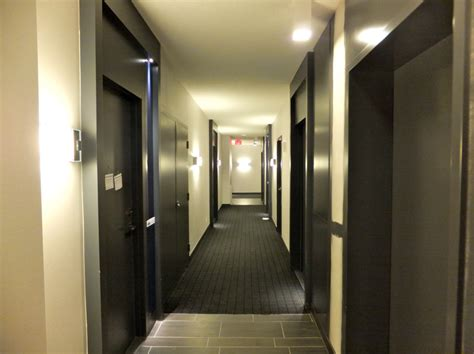 condminium hallways partially completed building