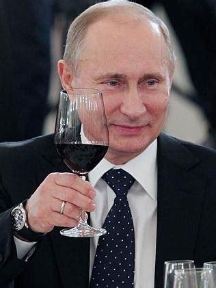 putin accused  war crime  drinking  wine