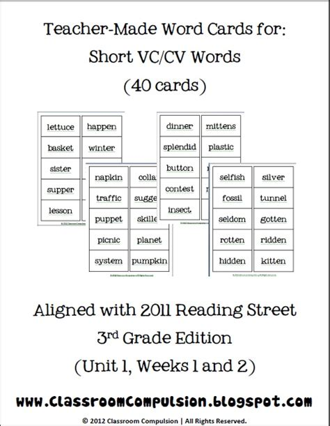 classroom freebies vccv spelling word cards
