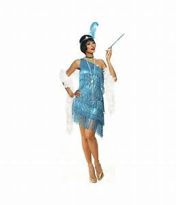 Sexy Sapphire Flapper Womens Costume - Flapper Costumes