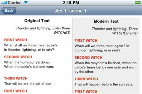 a modern translation of macbeth side by side