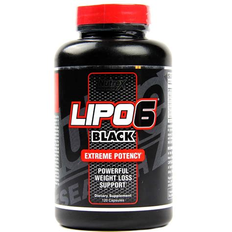 Nutrex Lipo 6 Black - 120 Capsules - eVitamins.com