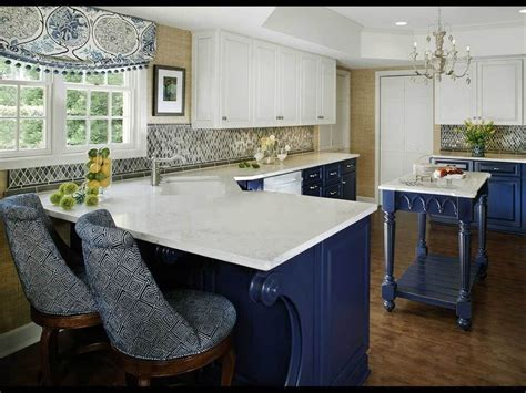 blue countertop kitchen ideas two tone blue and white kitchen cabinet ideas featuring