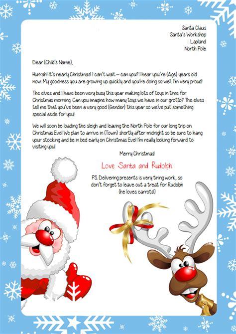 personalised letter  santa
