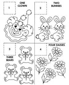 Coloring Number Activity Sheets