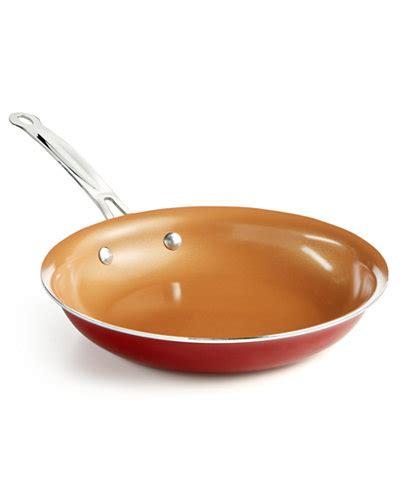 tv red copper  fry pan cookware cookware sets kitchen macys