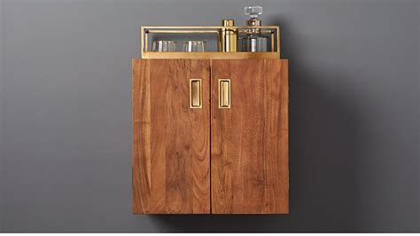Wall Mounted Bar Cabinets For Home by Wall Mounted Bar Cabinet Reviews Cb2