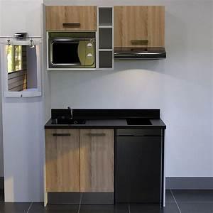 Kitchenette Pour Bureau : kitchenette 140 cm avec tag re emplacement hotte micro ~ Premium-room.com Idées de Décoration