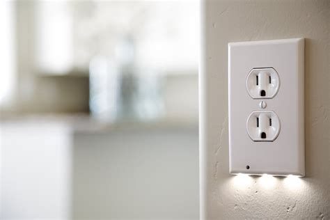 outlet plate night light check out these amazing outlet covers with built in led