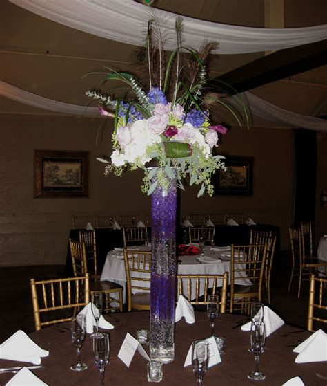 Tall Purple Wedding Centerpieces Purple Wedding