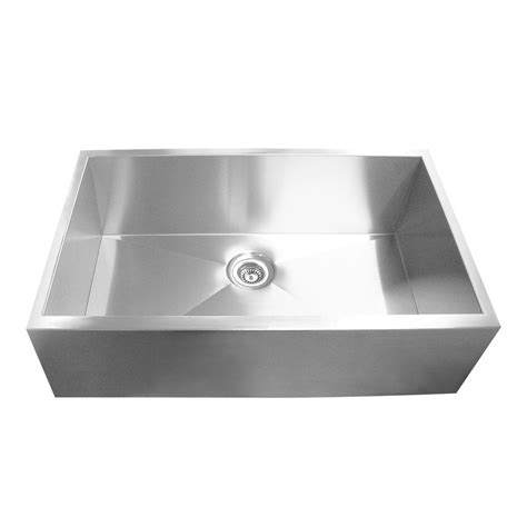 stainless steel apron front kitchen sink yosemite home decor farmhouse apron front stainless steel 9383