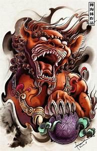 Foo Dog/Lion guardian | oriental tattoo design | Pinterest ...