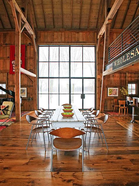modern michigan barn house conversion  rustic interiors idesignarch interior design