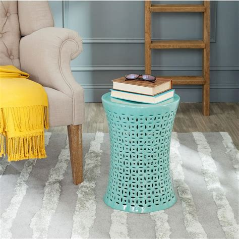 Garden Stool by Safavieh Camilla Aqua Garden Patio Stool Acs4550c The