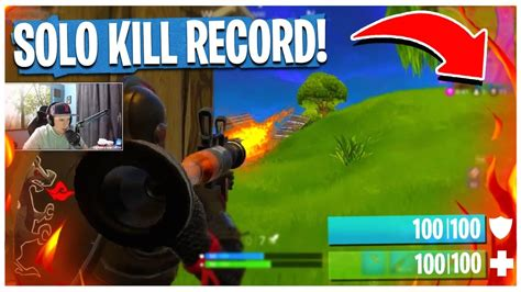 solo kill record  fortnite battle royale