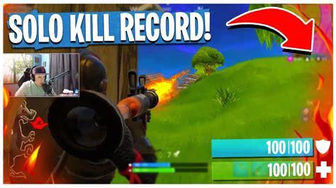 solo kill record  fortnite battle royale