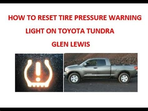 2011 toyota camry tire pressure light reset how to reset tire pressure warning light on toyota tundra