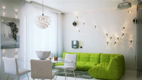 Eclectic Single Bedroom Apartment With Open Floor Plan by A Warm Apartment With A Casual Feel