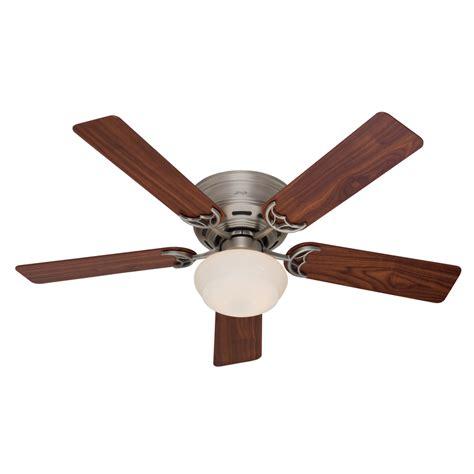 low mount ceiling fan shop hunter low profile iii plus 52 in antique pewter