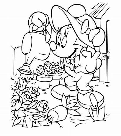 Minnie Coloring Mouse Pages Disney Printable Colour