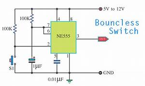 Bouncless Switch With Ne555
