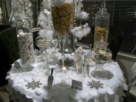 winter wonderland table  silver snowflakes