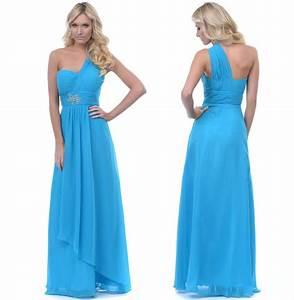 Chiffon Blush 2014 Bridesmaid Dresses Turquoise Chiffon ...