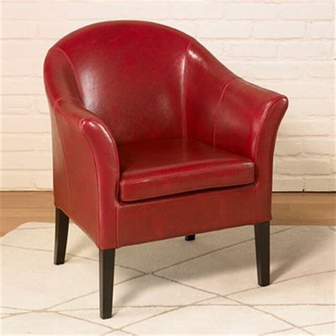 Club Upholstered Chair Red Chairs