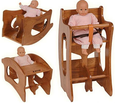 amish 3 in 1 high chair plans this amish baby furniture 3 in 1 high chair rocking