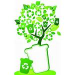 Tree Protection Environmental Bin Recycling Container Icon
