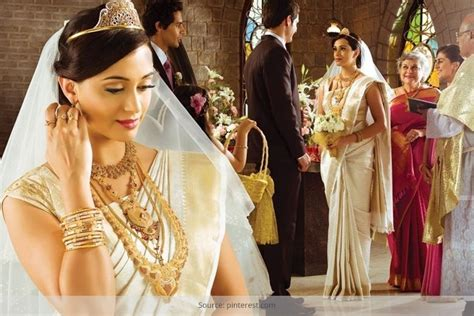 Wedding Accessories For Christian Bride : Kerala Christian Wedding Saree You Will Fall In Love With