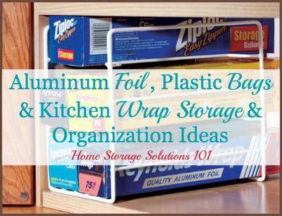kitchen organizer for foil plastic wrap aluminum foil plastic bags kitchen wrap storage 9498