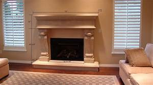 Fireplace Mantel 11 Sandstone with dimensions