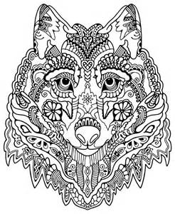 Adult Wolves Coloring Pages