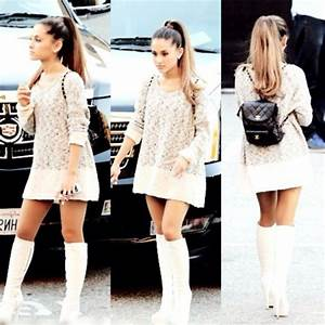 Sweater sweater dress knitted sweater ariana grande - Wheretoget