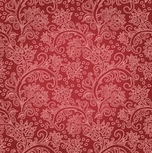 Free Vintage Floral | Red Floral Background ...