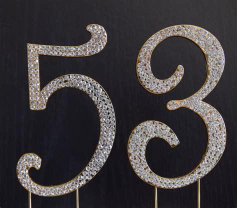 rhinestone gold number 39 cake rhinestone gold number 53 cake topper 53rd birthday