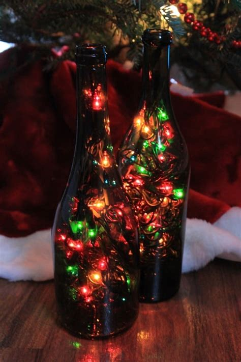 wine christmas decorations diy wine bottle lights your wine