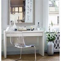 make up table Dressing Table With Drawer Modern White Vanity Make Up ...