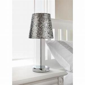 Glitter glass table lamp best inspiration for table lamp for Silver glitter floor lamp