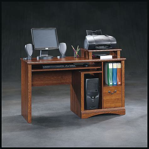 sauder camden county computer desk with hutch sauder planked cherry computer desk home furniture